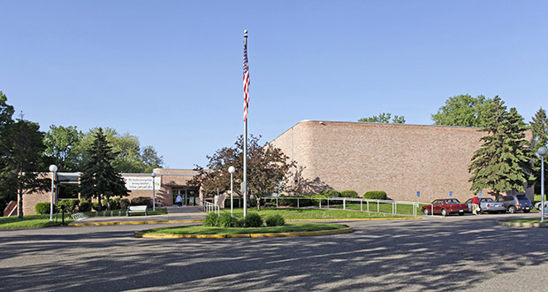 Iowa-based Hy-Vee Inc. has paid $3.8 million for this 23,961-square-foot YMCA building and 9.58-acre site at 150 Thompson Ave. W. in St. Paul. Y officials have not announced where it will move its local services. (Submitted photo: CoStar)