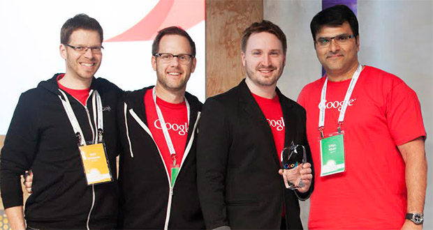 Attending Google Next, an annual conference for Google Partners, are, from left, Rick Erickson, co-founder and chief cloud strategist; Paul Lundberg, chief technology officer; Aric Bandy, president; Irfan Khan, CEO. (Submitted photo)