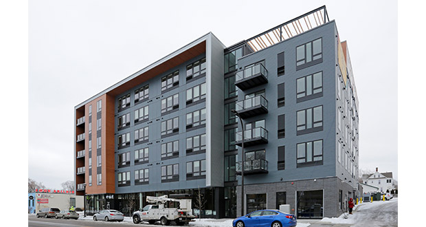 The Mezzo apartments at 1331 Marshall St. NE in Minneapolis stabilized at a 90% occupancy rate in about five months. (Submitted photo: CoStar)