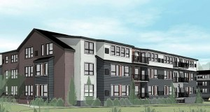 Lake West Development's plan for a 244-unit apartment complex at 3245 Wayzata Blvd. W. in Orono might wind up being a senior-oriented housing project. (Submitted illustration: Collage Architects)