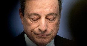 President of European Central Bank Mario Draghi speaks during a press conference following the Governing Council meeting in Frankfurt, Germany, Wednesday, April 10, 2019. (AP photo)