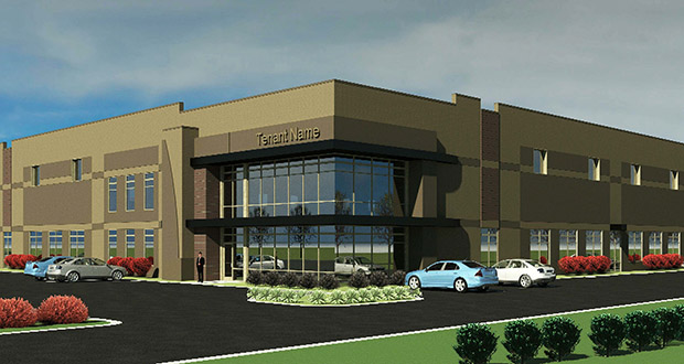Chanhassen-based Eden Trace Corp. plans to start construction May 15 on two office warehouse buildings on a 50-acre site at 8610 Galpin Blvd. in Chanhassen. (Submitted image: Edward Farr Architects)