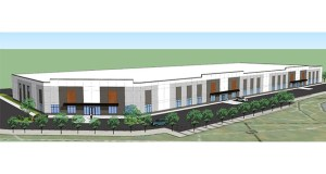 A new office/warehouse building at 11201 Xeon St. in Coon Rapids would join several other industrial and distribution users along a BNSF rail line. (Submitted image: Pope Architects)