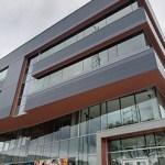 Mortenson's One Discovery Square bioscience building in Rochester. (Staff photo: William Morris)