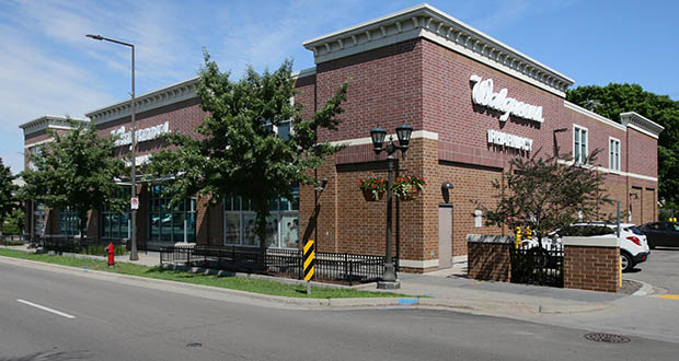 A Walgreens store at 2099 Ford Parkway S. in St. Paul, less than two blocks from the Ford redevelopment site, sold for the third time since 2011 in a transaction late last month. (File photo: Bill Klotz)