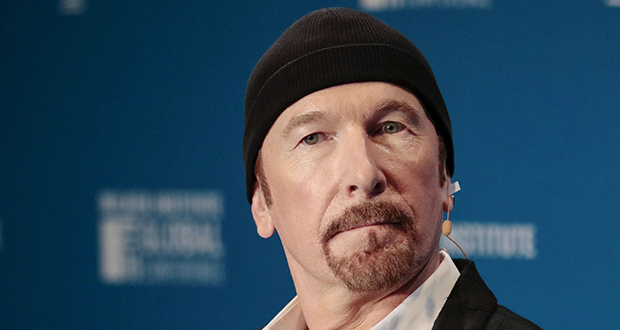 U2's guitarist The Edge, during the Milken Institute Global Conference in Beverly Hills, California, U.S., (Photographer: Kyle Grillot/Bloomberg)
