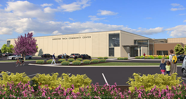 The city of Andover plans to break ground in July on this $18.4 million community center expansion. The building is at 15200 Hanson Blvd. NW in Andover. (Submitted rendering: 292 Design Group)