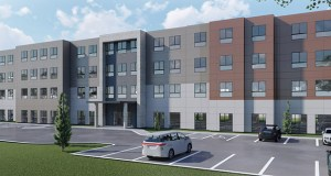 Commercial Investors Group wants to build this 90-room hotel at the blighted Skyline Motel site in Mounds View. (Submitted rendering)