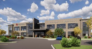 Shriners Healthcare for Children has committed to lease 20,000 square feet of space in CityPlace II, a 44,000-square-foot, two-story building Minneapolis-based Davis is building in the CityPlace development in Woodbury. Davis closed on the site July 9. (Submitted rendering: Davis)