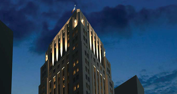 Maven Real Estate Partners' vision for Minneapolis' 90-year-old Rand Tower is a 4.5-star hotel carrying the Tribute by Marriott brand. (Submitted image: ESG)