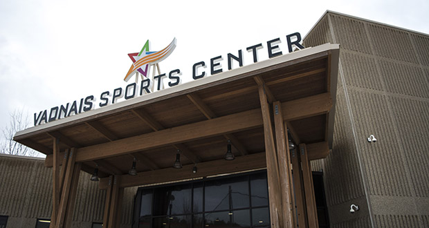 The Vadnais Sports Center at 1490 County Road E East in Vadnais Heights features two hockey rinks, seating for 1,900 fans, concessions and a conference room. (Submitted photo: Ramsey County)