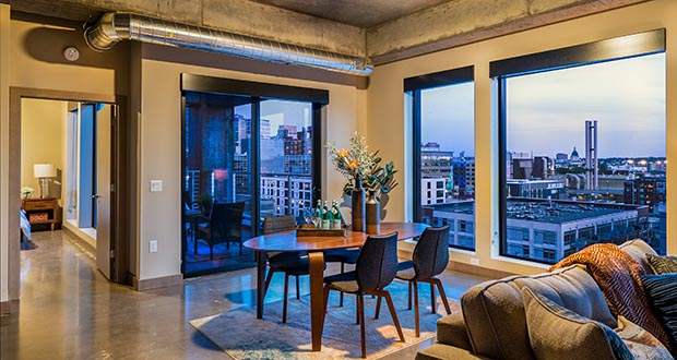 Sable, a new condominium building at 728 N. Third St. in Minneapolis, offers buyers sleek design, city views and the option of using the unit as a short-term rental. (Submitted photo: Downtown Resource Group)