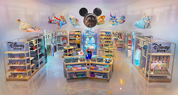 Target is hoping to bring the magic of Disney by creating permanent Disney shops at 25 of its own stores starting this fall. (Image: Target Brand Inc. and Disney via AP)