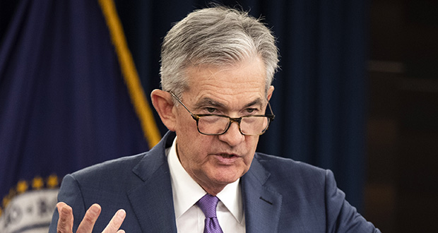 Federal Reserve Chairman Jerome Powell will give the keynote speech Friday to an annual gathering of global central bankers in Jackson Hole, Wyoming. It comes at a time of concern that the risk of a recession over the next year or two is rising. (AP file photo)