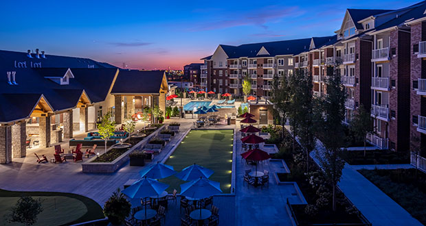 Suburban luxury apartments, like the Reserve at Arbor Lakes in Maple Grove, are able to charge high rents and are popular with Twin Cities residents, according to the latest Apartment Trends report. (Submitted photo: Doran Cos.)