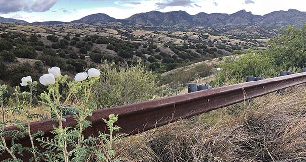 This photo taken May 12 off Arizona scenic state Highway 83 shows the eastern slope of the Santa Rita Mountains where Hudbay Minerals Inc. plans an open pit copper mine. A federal judge overturned the U.S. Forest Service's approval of the Canadian company's planned new copper mine in southeastern Arizona. (AP file photo)