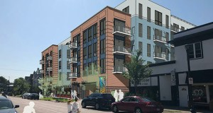 Solhem Cos. plans to build 108 apartments in a 4.5-story building at 306 to 314 13th Ave. NE. in Minneapolis. It's the developer's third project within three blocks in the past two years. (Submitted image: Momentum Design Group)
