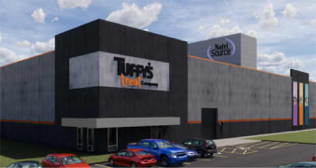 Tuffy's Pet Foods plans to break ground Wednesday on this $60 million pet treat manufacturing plant at 141 McKinley Parkway in Delano. (Submitted rendering)