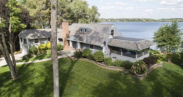 This 1952 home at 2600 W. Lafayette Road in Orono derives much of its value from its location on Lake Minnetonka. (Submitted photo: Landmark Photography)