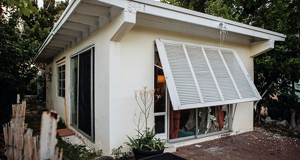 Lori Rittel's insurance payout of about $100,000 would cover repairs to her 640-square-foot house that was damaged by Hurricane Irma. But the county requires that when more than 50% of a home is damaged, that it be completely rebuilt to meet modern storm-resiliency codes and — in her flood zone — on stilts. That would cost at least $200,000, money she doesn't have. (Bloomberg photo: Jayme Gershen)