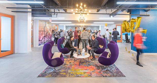 Novel Coworking members have access to more than 2.5 million square feet of workspace in 33 locations including two and growing in Minneapolis; pictured is the work space in the Lasalle Building on South Ninth St. (Submitted photo courtesy of Novel)