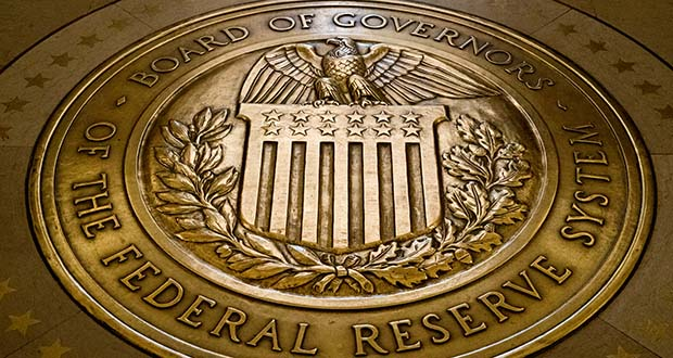 The seal of the Board of Governors of the U.S. Federal Reserve System is displayed in the floor at the Marriner S. Eccles Federal Reserve Board Building in Washington. (AP file photo)