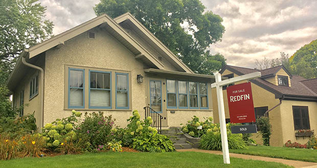 A home listed for sale for $345,000 at 291 Vincent Ave. N. in Minneapolis is under contract. August saw more than 6,600 buyers close on Twin Cities homes. (Staff photo: Matt M. Johnson)