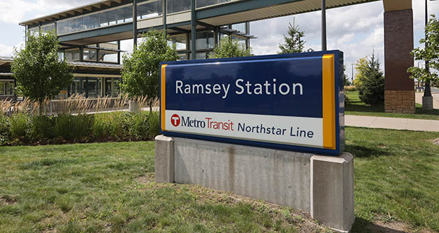 The area surrounding the Ramsey station on the Northstar commuter line has seen more than $87.3 million worth of development. (Photo: Bill Klotz, special to Finance & Commerce)