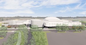 The project would update the existing 30,000-square-foot Plymouth Creek Center and add about 80,000 square feet of space to the building, according to Diane Evans, Plymouth's parks and recreation director. (Submitted rendering: HGA Architects and Engineers)