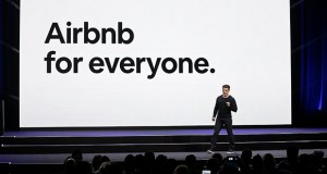 Airbnb co-founder and CEO Brian Chesky speaks Feb. 22, 2018, during an event in San Francisco. Home-sharing company Airbnb Inc. says it will go public in 2020. (AP file photo)