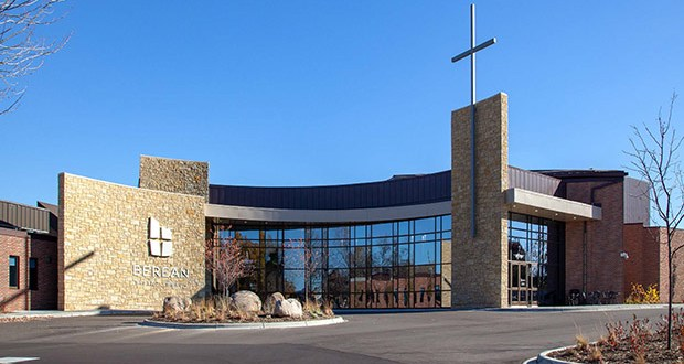 Berean Baptist Church at 309 County Road 42 E. in Burnsville finished an expansion in 2018 that included a 1,110-seat worship center, classrooms and an expanded commons area and parking lot. (Submitted photo)