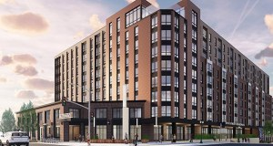 Apartments that CA Ventures is planning at 407 15th Ave. SE in Dinkytown could have a McDonald's in a ground-floor retail space. (Submitted photo: ESG Architects)