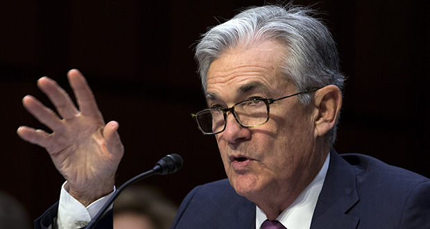 Federal Reserve Board Chair Jerome Powell testifies Wednesday on the economic outlook on Capitol Hill in Washington. (AP Photo: Jose Luis Magana)