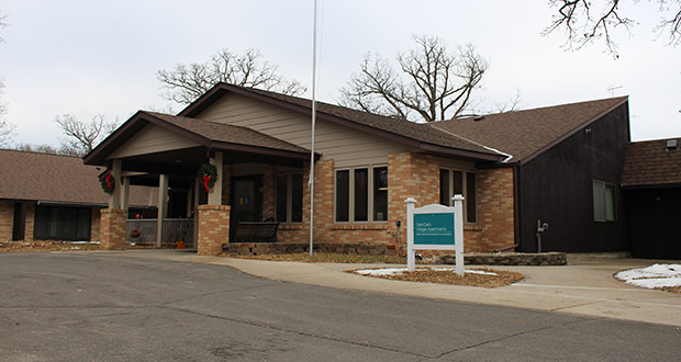This independent living building is part of the GlenOaks Senior Living campus at 100-104 GlenOaks Drive in New London. (Submitted photo: Certus Financial)
