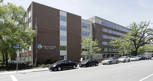 Catholic Charities of St. Paul and Minneapolis plans to acquire and renovate this Augustana Health Care Center in Minneapolis. The $65 million project includes about $20 million to acquire the building and the $45 million for upgrades. (Submitted photo: CoStar)