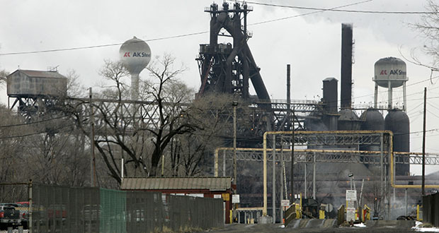This Jan. 26, 2009, photo shows an AK Steel Holding Corp. plant in Middletown, Ohio. Cleveland-Cliffs is buying AK Steel in a stock deal. AK Steel will become a subsidiary of Cliffs and keep its branding and corporate identity. (AP file photo)
