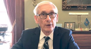 Wisconsin Gov. Tony Evers sits for an interview with The Associated Press Thursday. (AP photo)