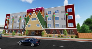 St. Paul's Ain Dah Yung Center, where state and federal officials announced $5.3 million in new annual funding for housing vouchers, includes 11 units of permanent supportive housing for young people thanks to federal vouchers. (Submitted image)