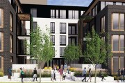 """The """"E"""" shaped building Lander Group has proposed for 3501-3525 Hennepin Ave. in Minneapolis would include two courtyards. (Submitted photo: ESG)"""