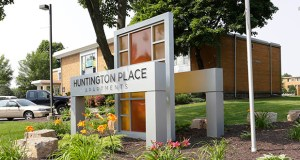 The Huntington Place Apartments, built in 1969 at 5801 73rd Ave. N., have 834 one-bedroom units in six buildings. (Submitted photo: CoStar Group)