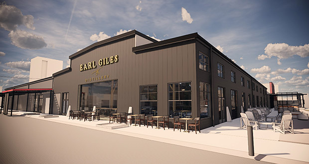 The Earl Giles Distillery at 1325 Quincy Ave. NE in Minneapolis will include a food operation making pizzas and sandwiches. (Submitted illustration: Shea Architects)