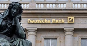 Euro-area banks, including Deutsche Bank, have paid 25 billion euros ($28 billion) to deposit funds at the European Central Bank since June 2014, according to data compiled by Bloomberg. (Bloomberg file photo)