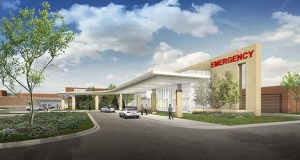 St. Francis Medical Center plans to start construction soon on this $25 million expansion and renovation of its emergency and cancer treatment operations. (Submitted image: HGA)
