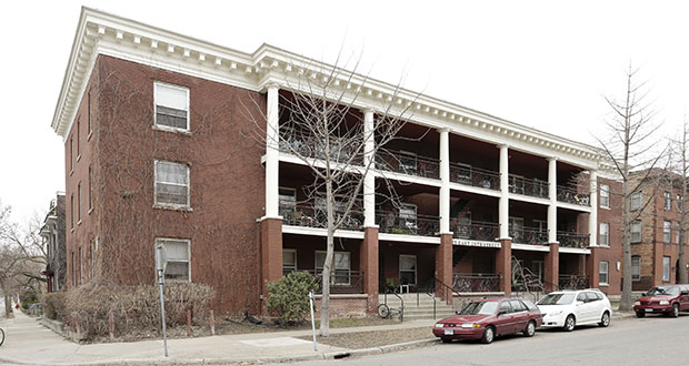 Some developers are working on plans for small apartments, but the idea isn't new. This apartment building 25 E. 25th St. in Minneapolis was built in 1908 and includes 24 studio apartments. (Submitted photo: CoStar)
