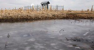 A Keystone pipeline pumping station is seen in a field in rural Milford, Nebraska on Jan. 9. The aim of the planned overhaul of the National Environmental Policy Act, or NEPA, is to streamline environmental approvals for major construction efforts like highways, airports, pipelines and power plants. (AP file photo)