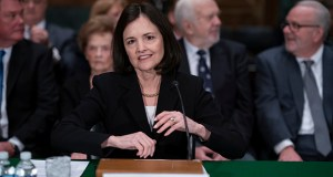 President Donald Trump's nominee to the Federal Reserve, Judy Shelton, appears before the Senate Banking Committee on Thursday for a confirmation hearing, on Capitol Hill in Washington. (AP Photo: J. Scott Applewhite)