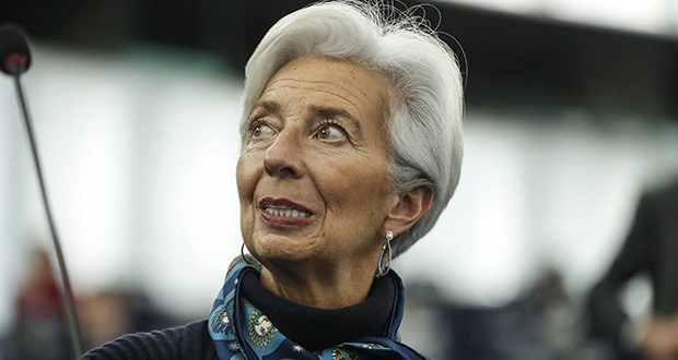Christine Lagarde, president of the European Central Bank, warned the European Parliament on Tuesday that the world's central banks have little room to stimulate growth in the economy as interest rates and inflation are already very low. (AP Photo: Jean-François Badias)