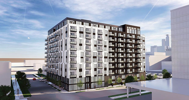 Reuter Walton plans to use light-gauge steel construction to build an 11-story apartment building at 200 12th St. S. in Minneapolis. (Submitted illustration: ESG)