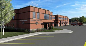 The city of Buffalo is seeking a construction sales tax exemption for this fire station project. The League of Minnesota Cities and others want to streamline the process for claiming exemptions. (Rendering: City of Buffalo)