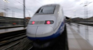 In this May 2018 photo shows a high-speed train at the Saint-Charles train station in Marseille, France. French train maker Alstom said Monday that it is in talks to possibly take over the train business of Bombardier, the Canadian aerospace and engineering company. (AP file photo)